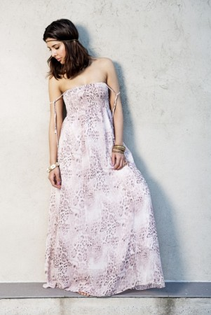 Dia Dia Maxi Dress Pink Leopard