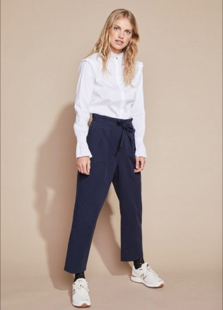 SOFT REBELS Line Pant Night Sky