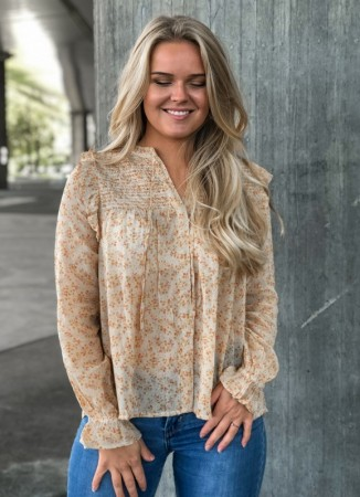 MISSMAYA Linda Blouse Ochre Bloom