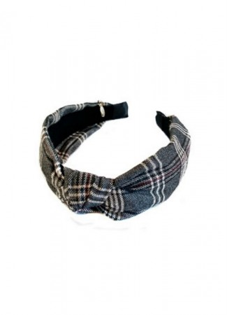 NOMA Headband Knot Wool Plaid