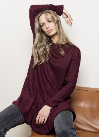 MISSMAYA Lycke Dress Burgundy