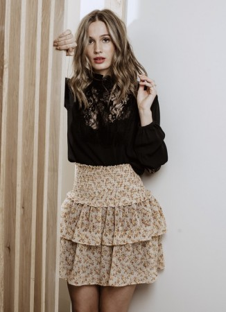 MISSMAYA Vera Skirt Ochre Bloom