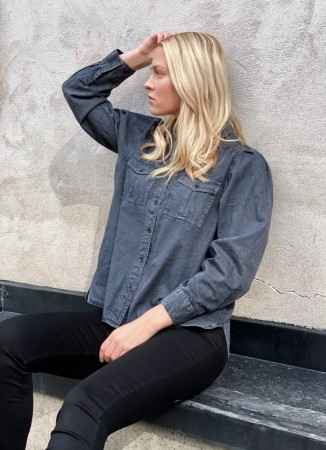 MISSMAYA Vilde Shirt Dark Steel