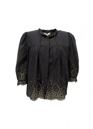 MISSMAYA Cathy Blouse Black Border