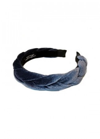 NOMA Headband Velour Braid Blue Grey