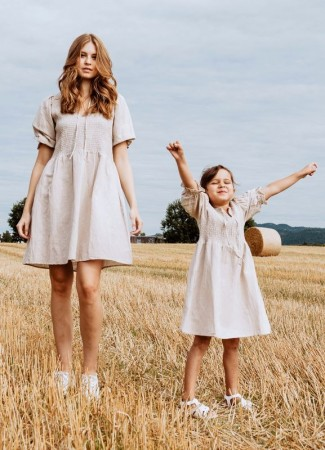 MISSMAYA GIRL Benitagirl Dress Linen Sand (PRE-ORDER: Lev. April)