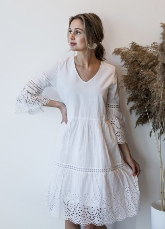 MISSMAYA Julie Dress Blanc