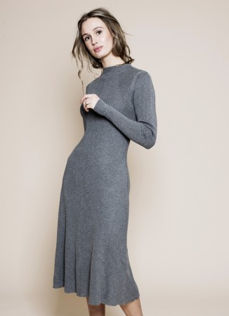MISSMAYA Alice Dress Grey Melange