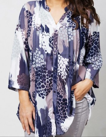 Dia Dia Chiffon Blouse Purple