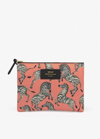 WOUF Large Pouch Bag Zebra