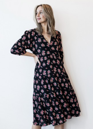 MISSMAYA Sofie Midi Dress Vintage Black