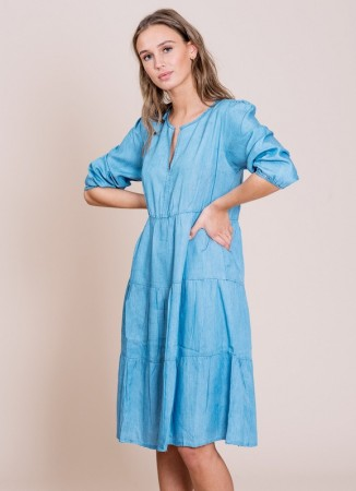 MISSMAYA Sofie Midi Dress Denim