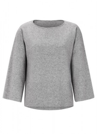 SOFT REBELS Edel 7/8 O-neck Light Grey