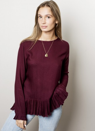 MISSMAYA Lotte Blouse Burgundy