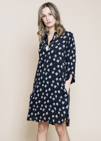 MISSMAYA Aisha Dress Blue Flower