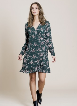 MISSMAYA Saina Wrap-Dress Green Leaf