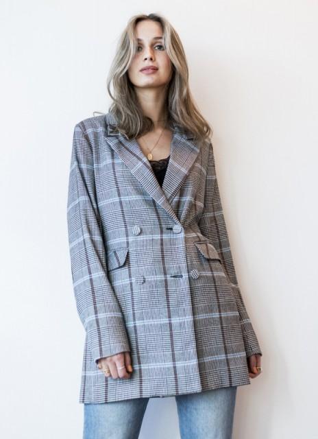 5115a5eb MBYM Frej Outerwear Black White Blue Check